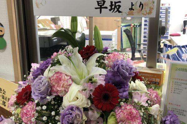 お花をいただきました♬